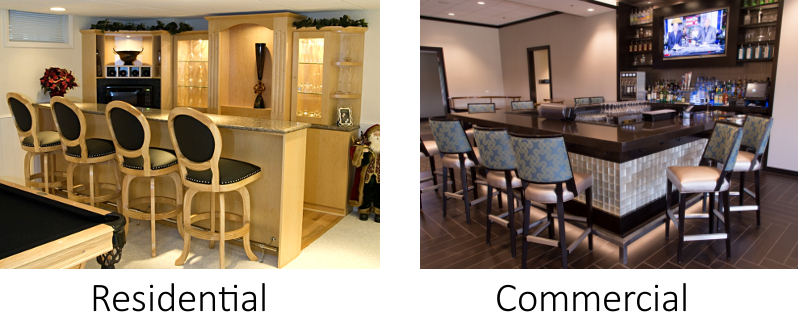 Custom Bar -residential and commercial bars and wine cellar