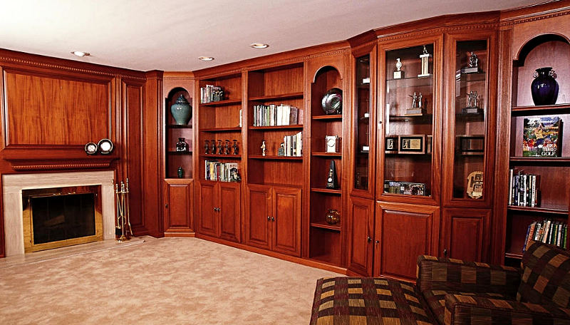 Custom home library hand made custom cabinets hand for Custom home library design