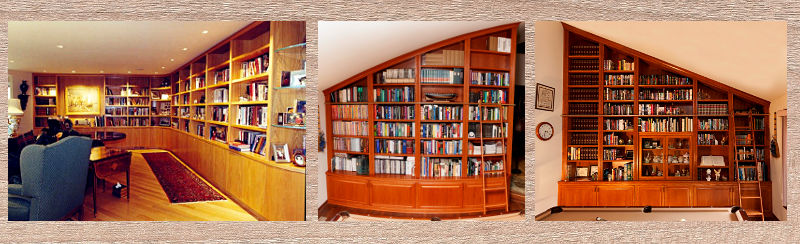 Three custom home libraries