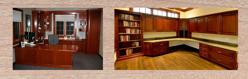 We design, build and install custom home offices